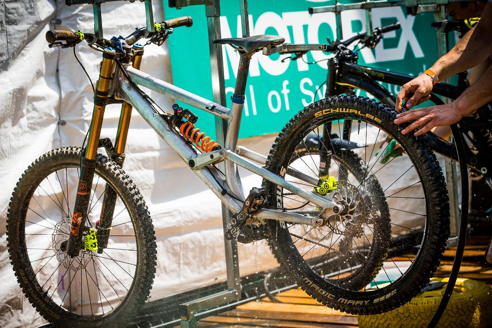 Jasper Jauch's Liteville DH Bike - PIT BITS - World Cup Lenzerheide, Switzerland - Mountain Biking Pictures - Vital MTB