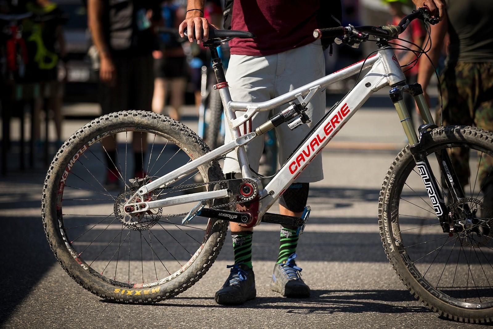 Cavalerie Anakin Gearbox Belt Drive Trail Bike - PIT BITS - World Cup Lenzerheide, Switzerland - Mountain Biking Pictures - Vital MTB