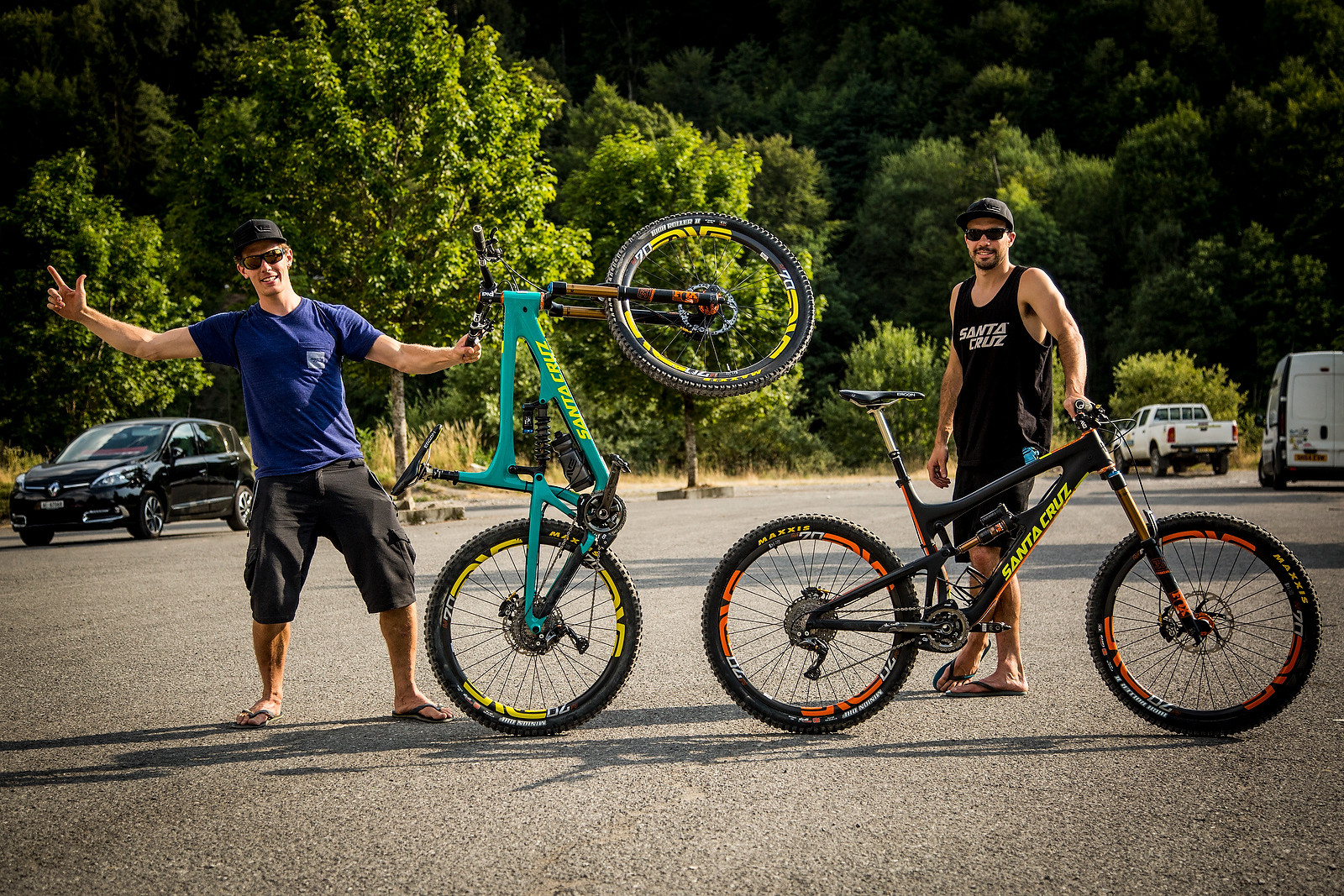 The Nomads with their...Nomads - PIT BITS - Enduro World Series, Samoens, France - Mountain Biking Pictures - Vital MTB