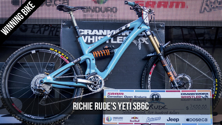 WINNING BIKE: Richie Rude's Yeti SB6c - WINNING BIKE: Richie Rude's Yeti SB6c - Mountain Biking Pictures - Vital MTB
