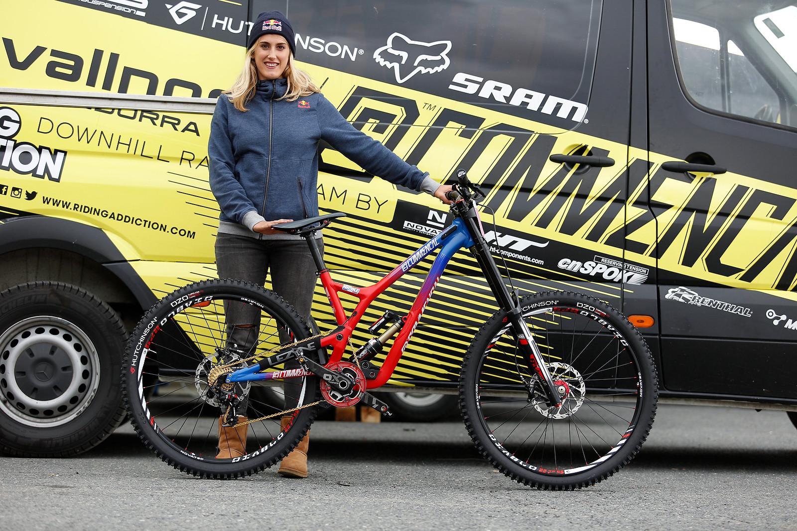 Myriam Nicole's Commencal Supreme V4 for World Champs - PIT BITS - 2015 WORLD CHAMPS - Mountain Biking Pictures - Vital MTB