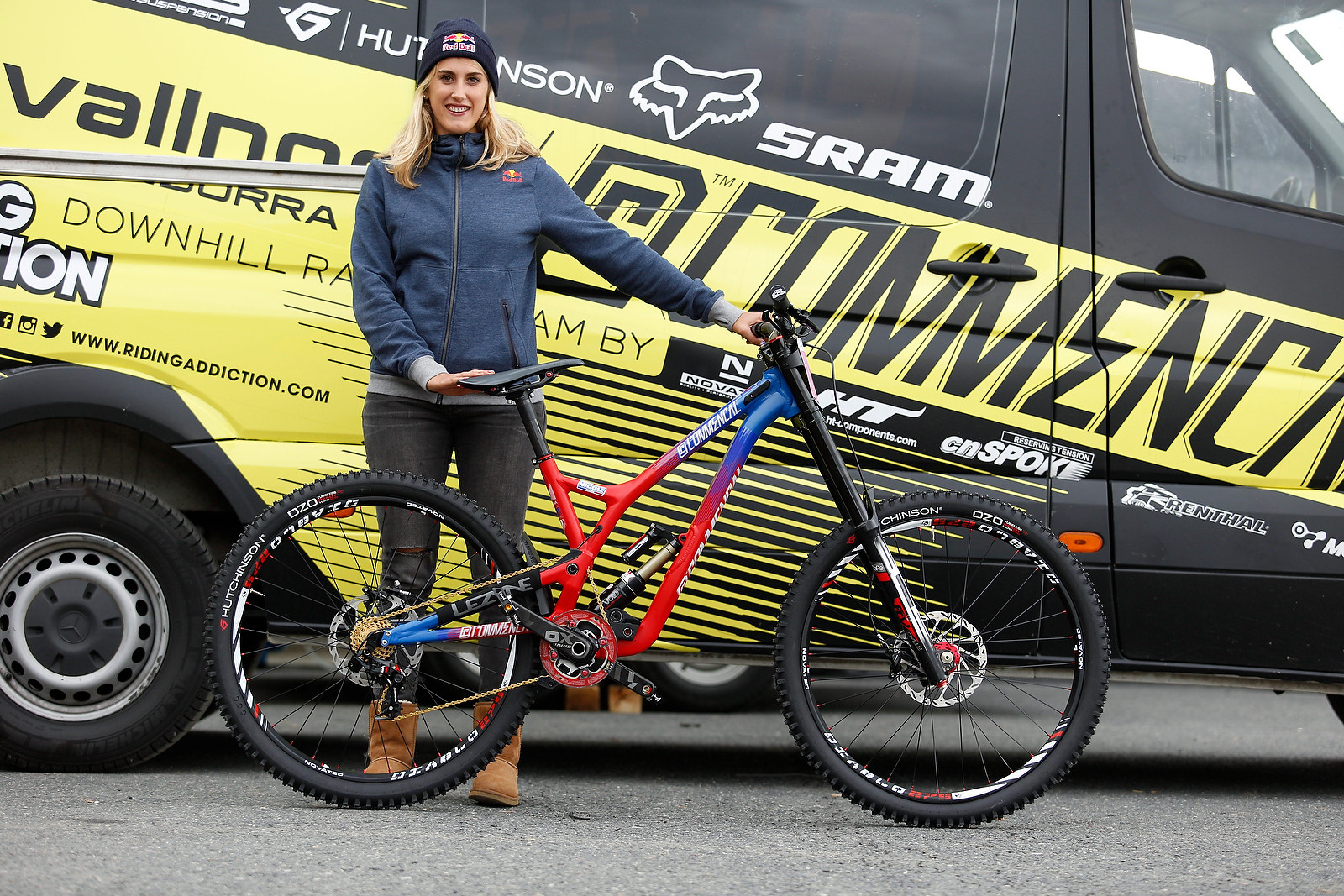 Myriam Nicole's Commencal Supreme V4 for World Champs - PIT BITS - 2015 WORLD CHAMPS - Mountain Biking Pictures - Vital MTB