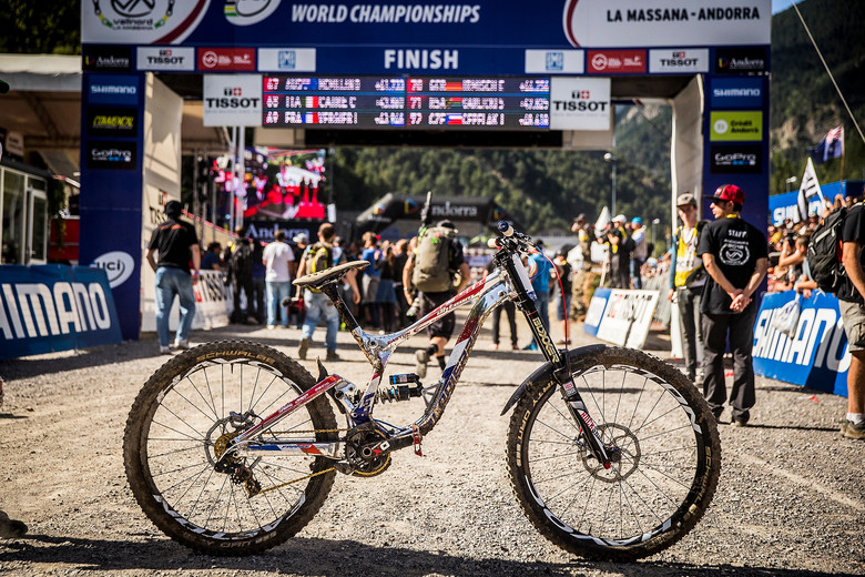 WINNING BIKE: Loic Bruni's Lapierre DH for World Champs