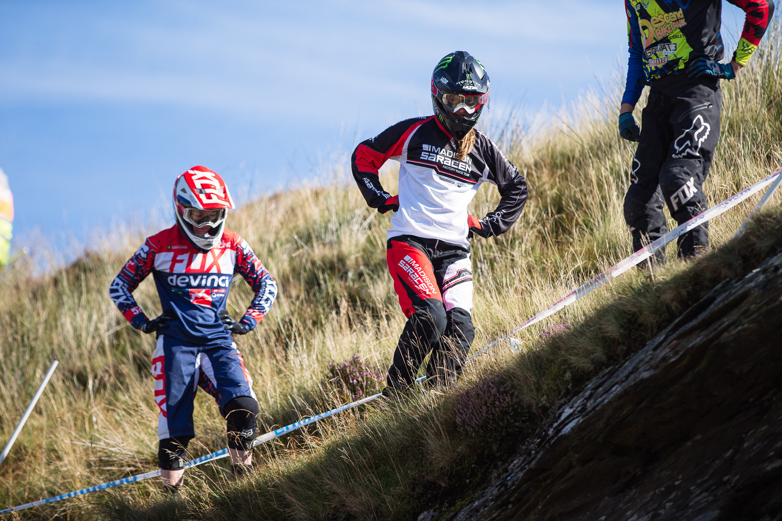 Tahee Seagrave and Manon Carpenter - 2015 British Downhill Series Finals - Mountain Biking Pictures - Vital MTB