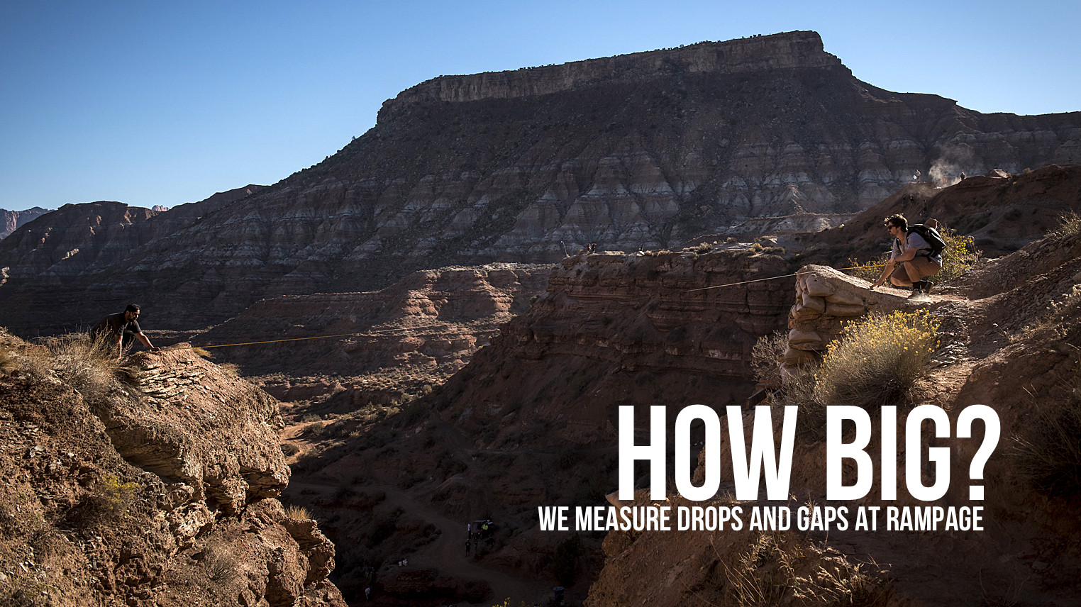 HOW BIG? We measure drops and gaps at Rampage 2015 - HOW BIG? We measure drops and gaps at Rampage 2015 - Mountain Biking Pictures - Vital MTB