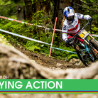 Qualifying Action from the Leogang World Cup Downhill