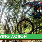 Qualifying Action from the Lenzerheide World Cup Downhill