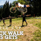 2019 Les Gets World Cup Downhill Race Track Walk Slideshow