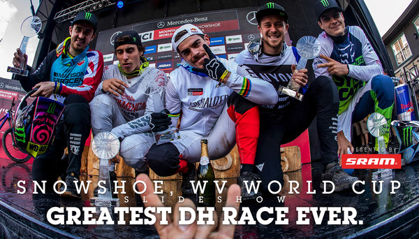GREATEST DOWNHILL RACE EVER. Snowshoe World Cup DH Finals