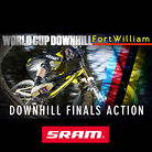 DOWNHILL FINALS ACTION from Fort William World Cup