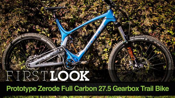 Zerode's Prototype Full Carbon 27.5 Gearbox Trail Bike