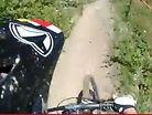Riding Champery World Cup DH Track with One Arm
