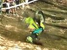 VIDEO: Downhill Faceplant Scorpion Crash