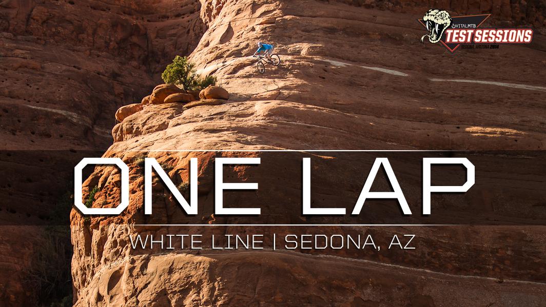 DON'T LOOK DOWN - Mountain Biking on the Edge, White Line, Sedona, Arizona