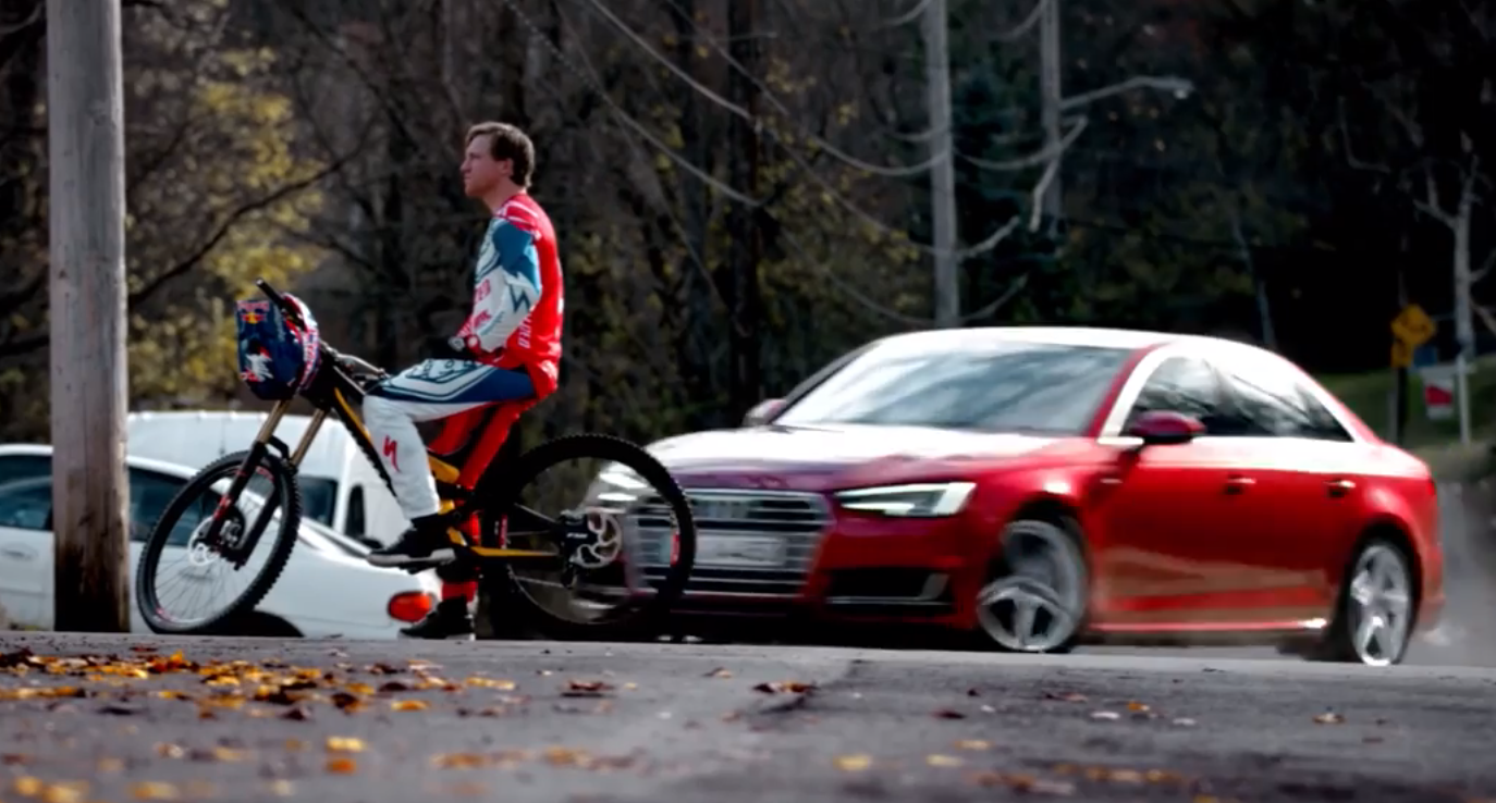 The Audi Commercial with Gwin