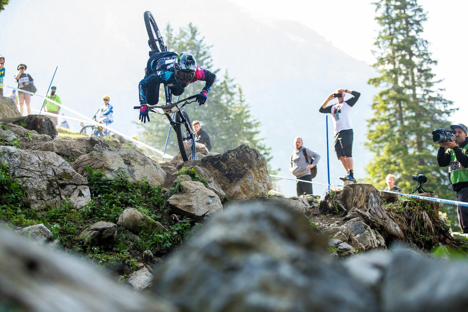 Troy Brosnan's OTB Crash in the Rocks at Lenzerheide