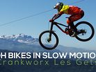 Downhill Bikes in Slow Motion - Crankworx Les Gets