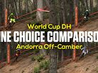 LINE CHOICE COMPARISON - Andorra World Cup DH