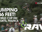 JUMPING 86 FEET! Vital RAW 2019 Les Gets, France, World Cup Downhill