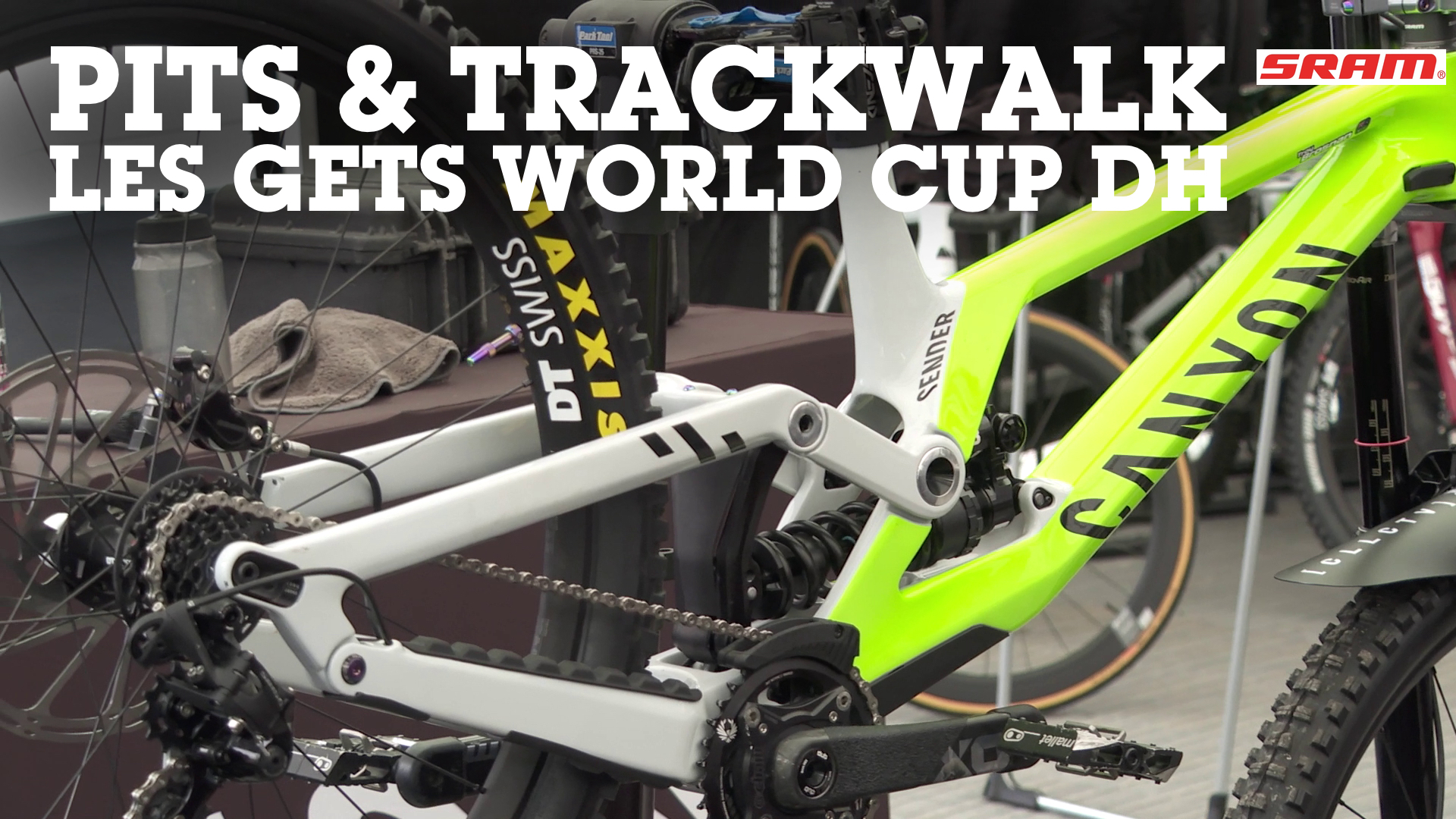 WORLD CUP DH PITS AND TRACKWALK - Les Gets