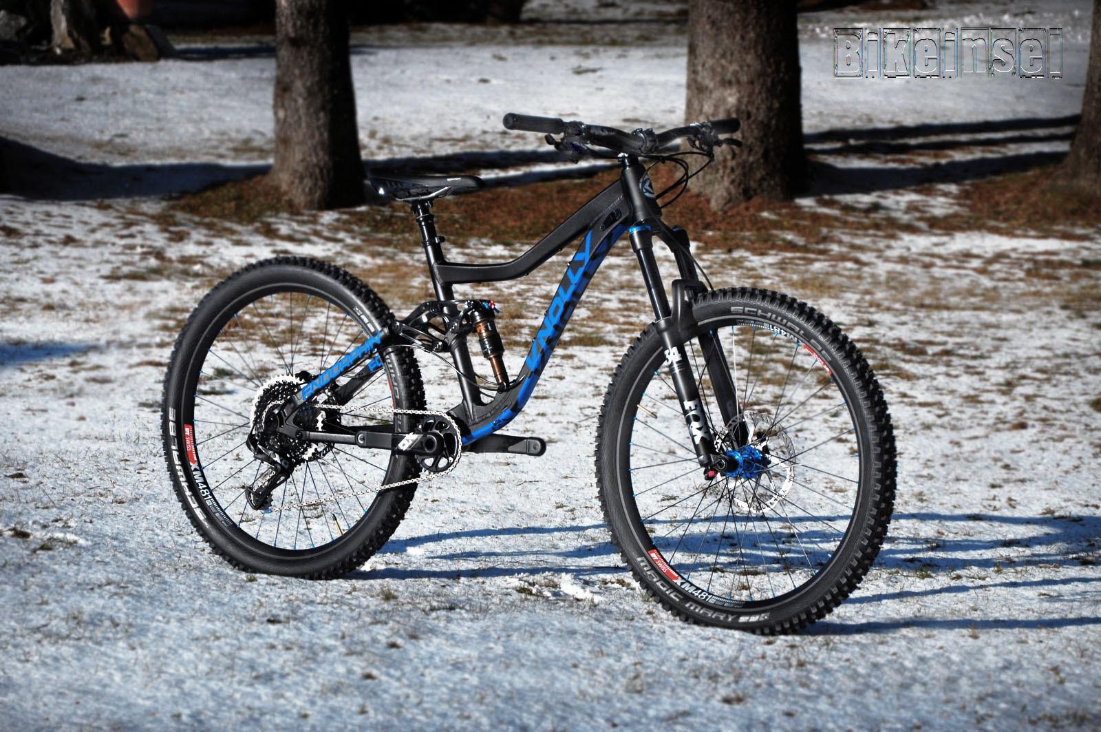 """Knolly Endorphin 650B custom  """"blue snow"""""""