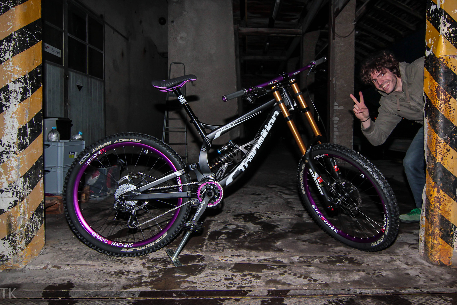 Tr450 Black Purple Sirbaba S Bike Check Vital Mtb
