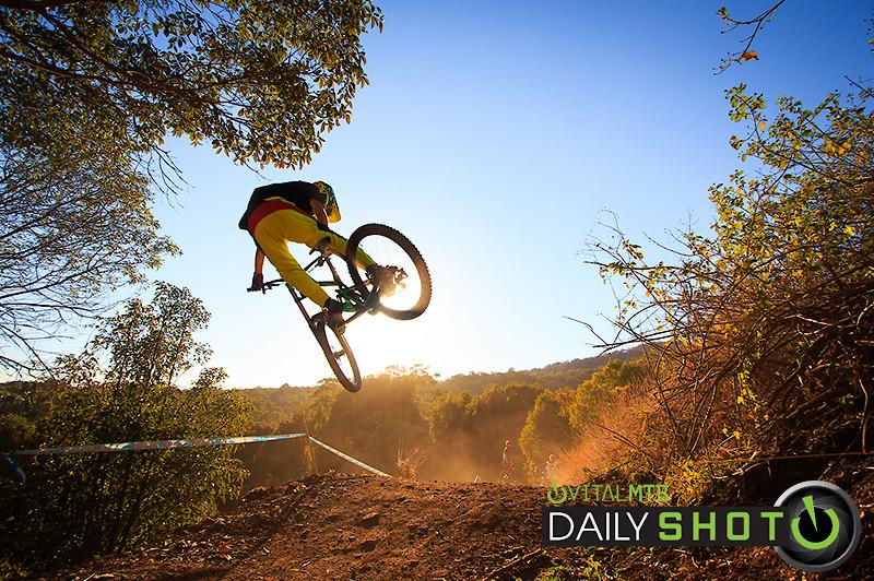 Luke sending the table in the morning light - sam.routledge - Mountain Biking Pictures - Vital MTB