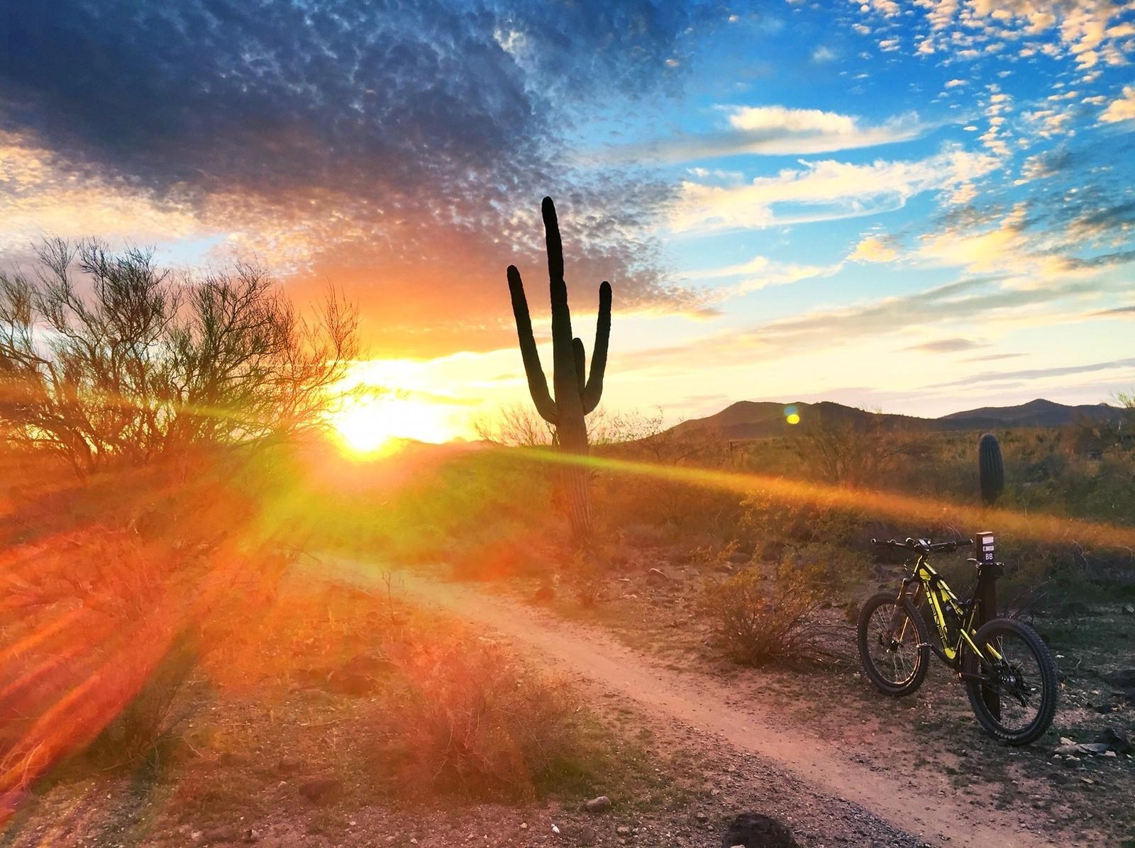 Carbine at sunset - azmtbr - Mountain Biking Pictures - Vital MTB