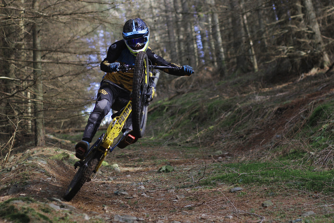 Innes Graham loving back wheel - CaldwellVisuals - Mountain Biking Pictures - Vital MTB