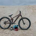 Brett Rheeder's bike check afer Crankworx Innsbruck