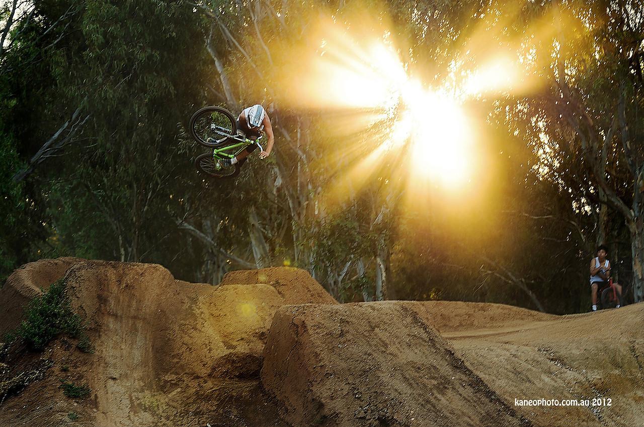 deity's Tom Hall laying it flat on a Hip - DEITY - Mountain Biking Pictures - Vital MTB