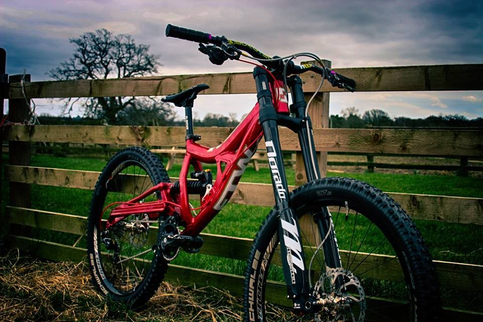 Red hot and ready, keep your eyes peeled on the UK DH scene for The Development's FTW rigs ripping by.