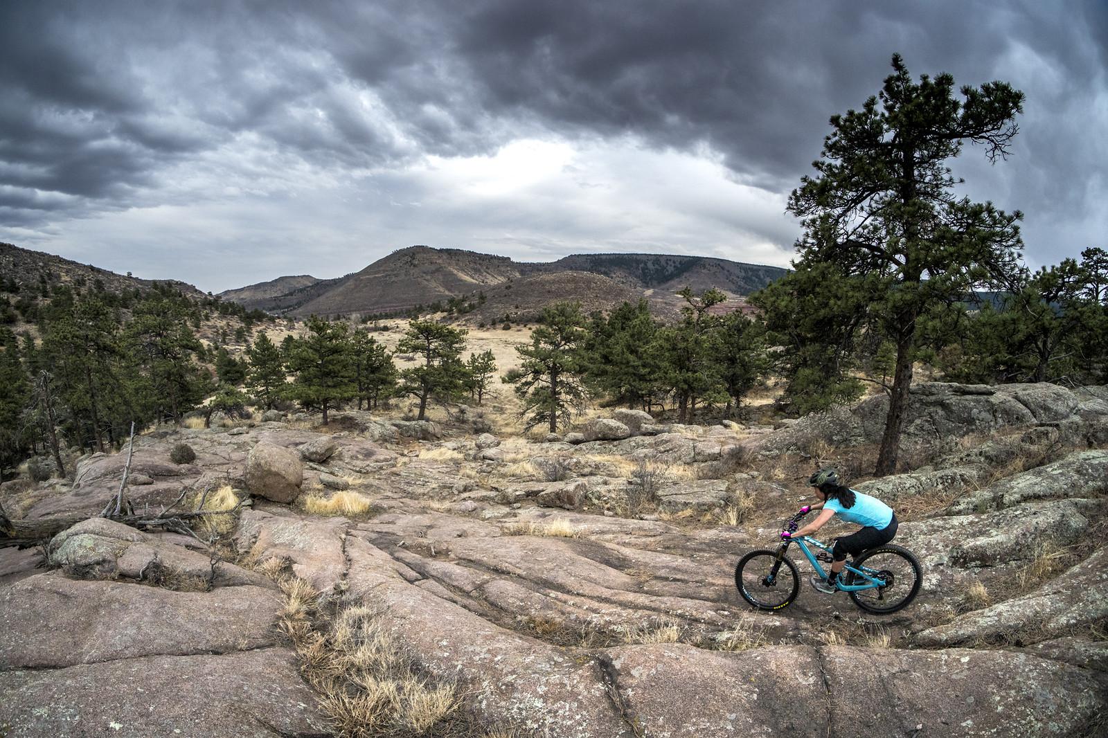 Rock slabs in CO - gold_007 - Mountain Biking Pictures - Vital MTB
