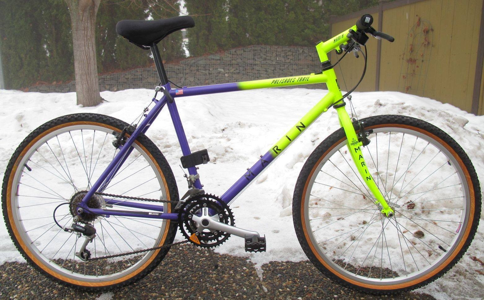 This bike is so hot it actually melted the snow underneath it. True story.