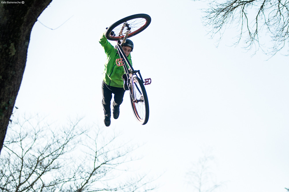Richard Fert Superman Seat Grab - Corsair Bikes - Mountain Biking Pictures - Vital MTB