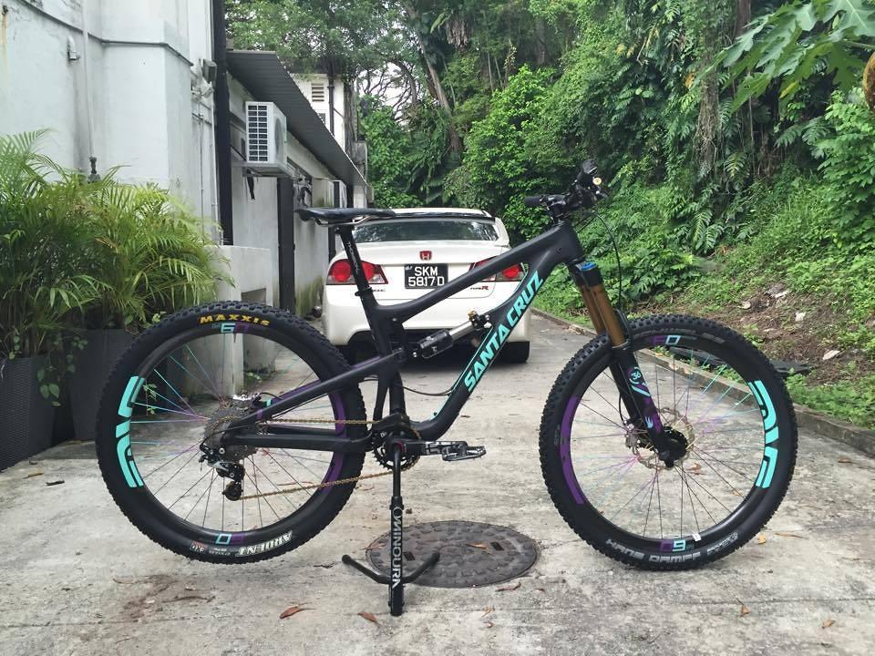 Custom 2015 SantaCruz Nomad Di2 (Mint/Purple)