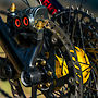 Magura MT-7 Brakes with custom red inlays, Gold Ti hardware from Better Bolts, Custom Ohlins Yellow Onyx hubs