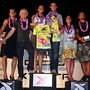 Pete taking 1st place and the coveted yellow Hawaiian jersey. Mahalo.