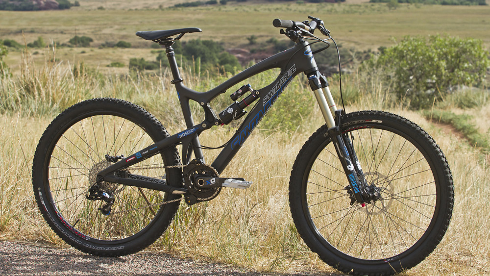 My Santa Cruz Nomad Carbon, ready for the trail.