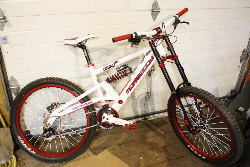 Built from bearings up, custom powder coat on parts, and all new parts