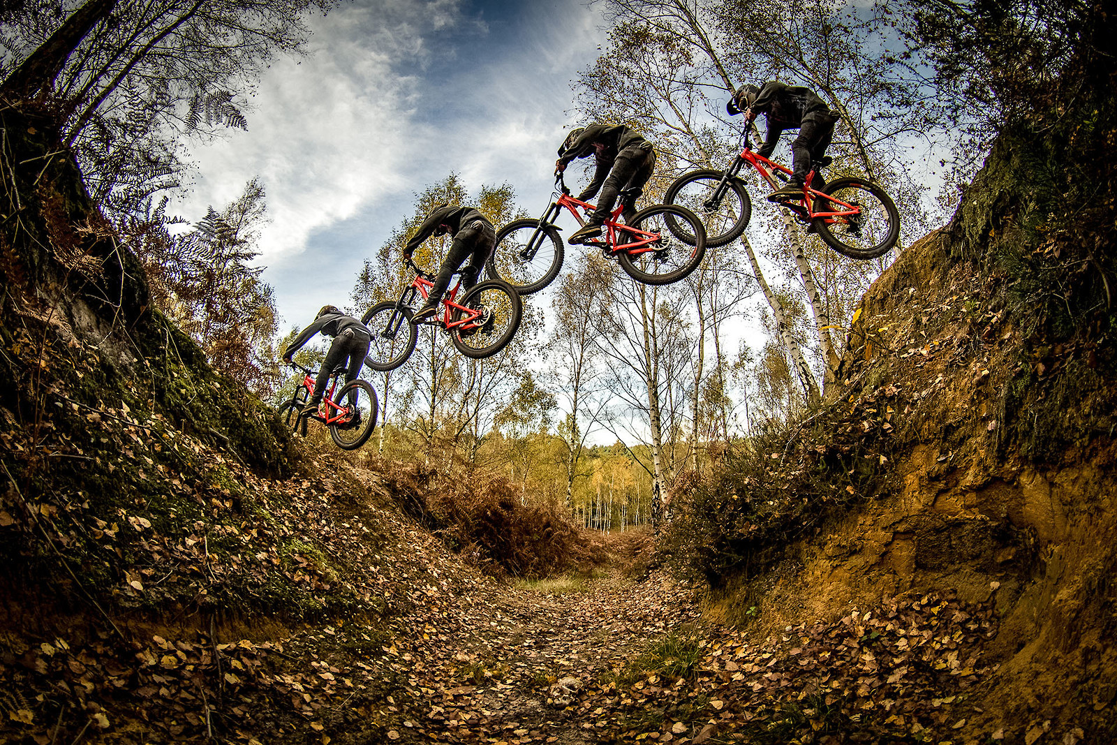 Gully gapping selfie sequence - cagreenwood - Mountain Biking Pictures - Vital MTB