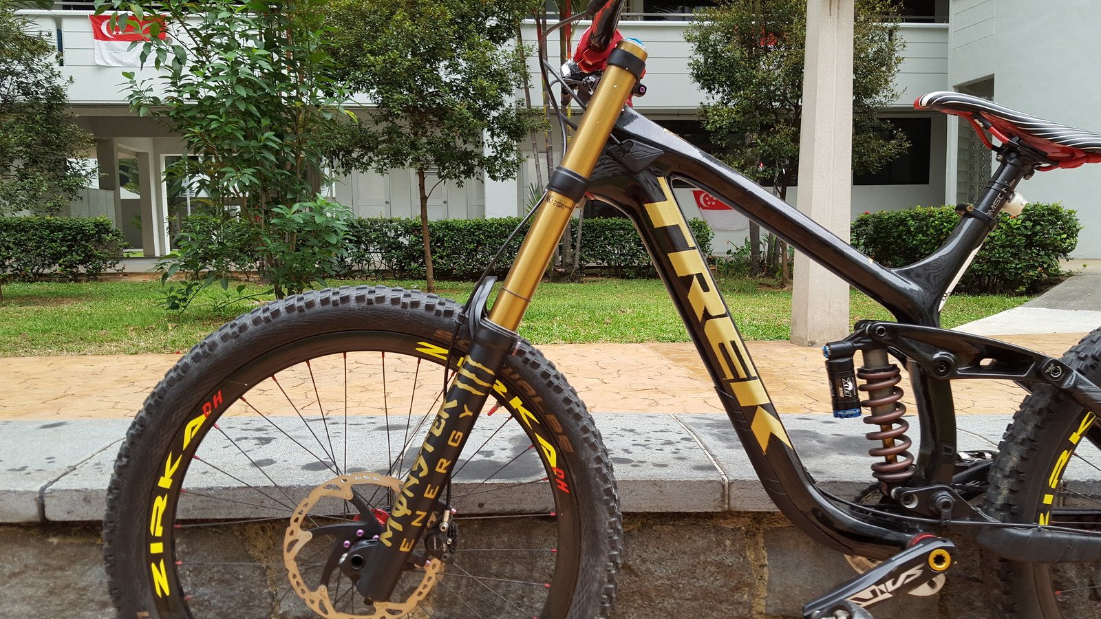 Trek Session 9.9 Black Gold Monster Energy Edition By Keith Teo Customs