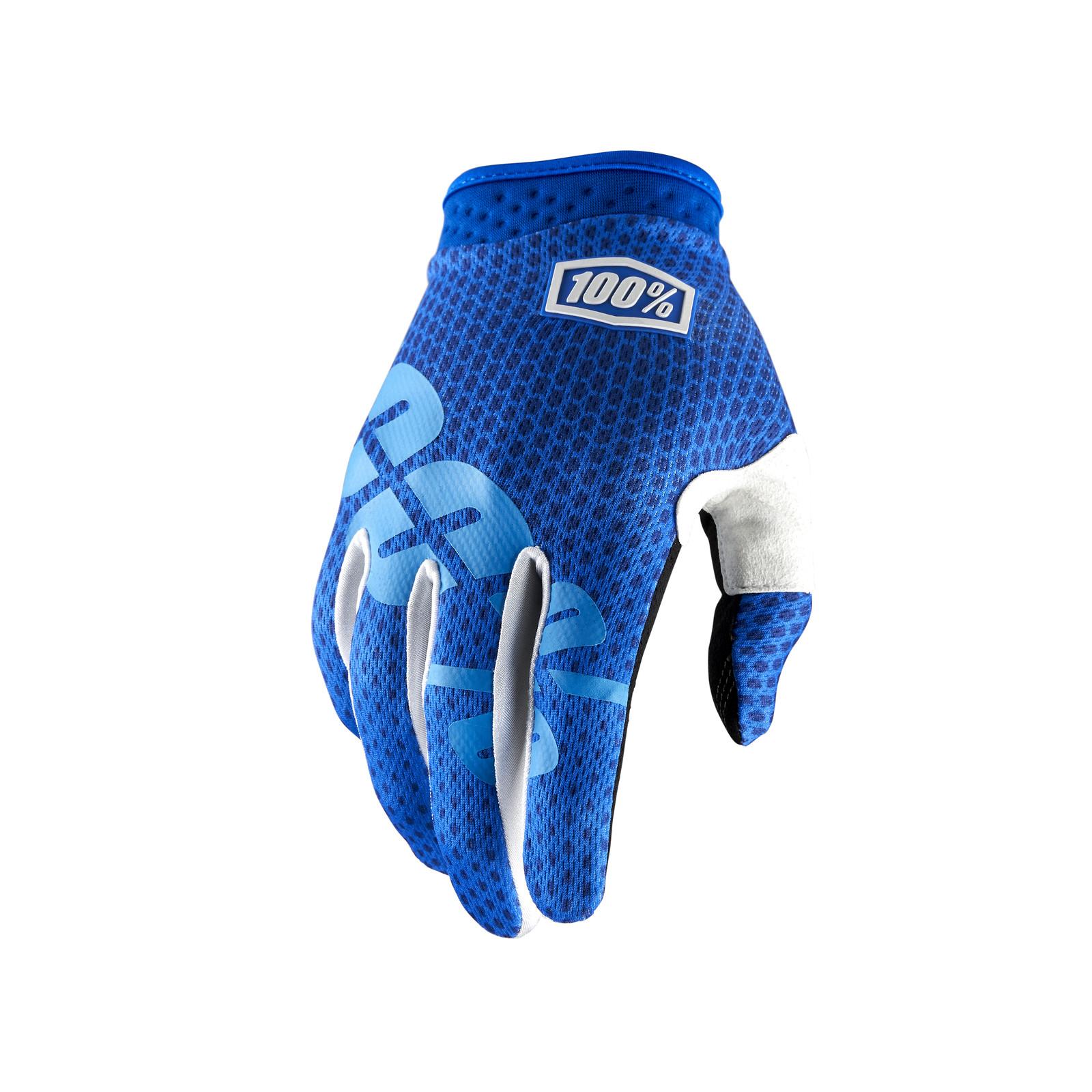 iTrack Glove - Blue - 100percent - Mountain Biking Pictures - Vital MTB