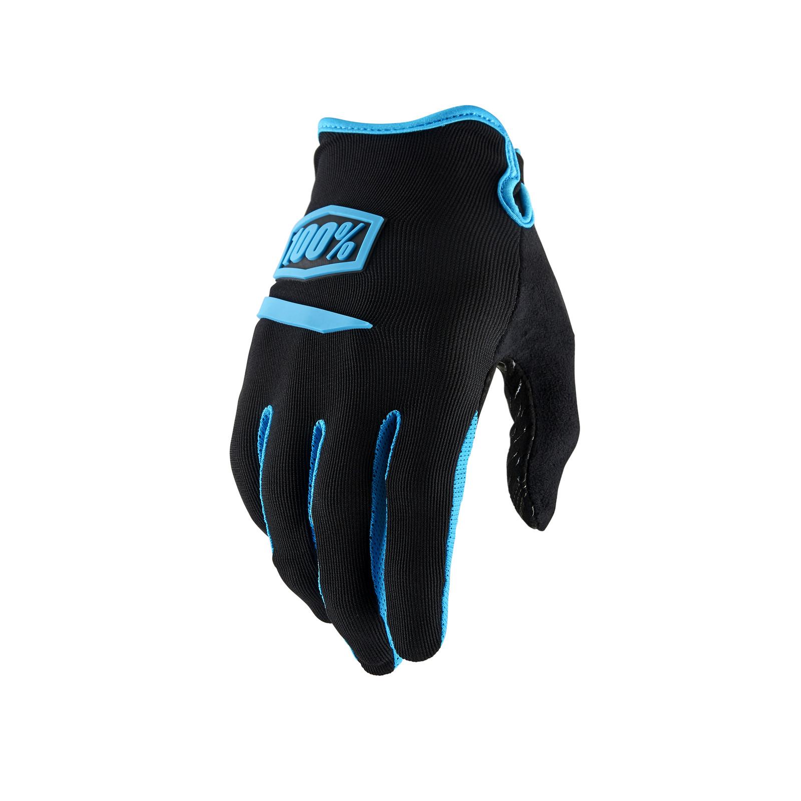 Ridecamp Glove - Black / Blue - 100percent - Mountain Biking Pictures - Vital MTB