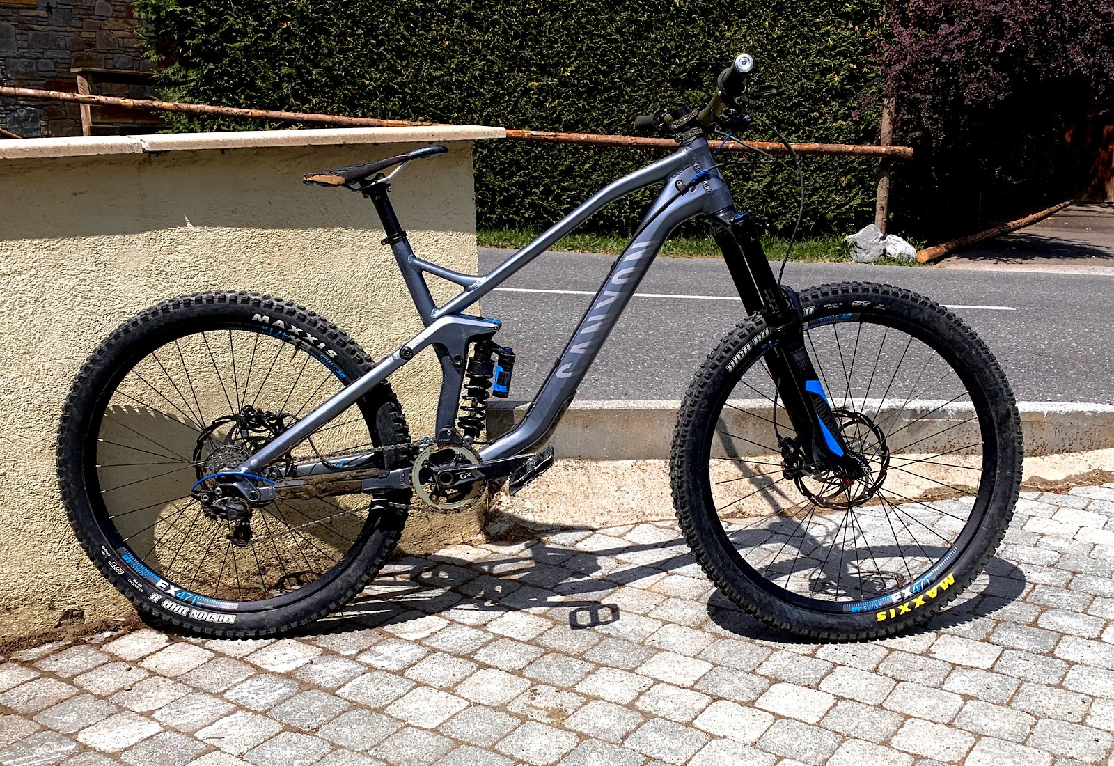 Morzine 2019  Coil Fork DT 240/EX471 Build 36t chainring to reduce pedal kickback from anti squat.