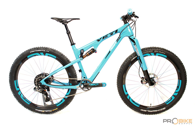 Yeti ASRc with custom painted turquoise RS-1 - probikesupply\'s Bike ...