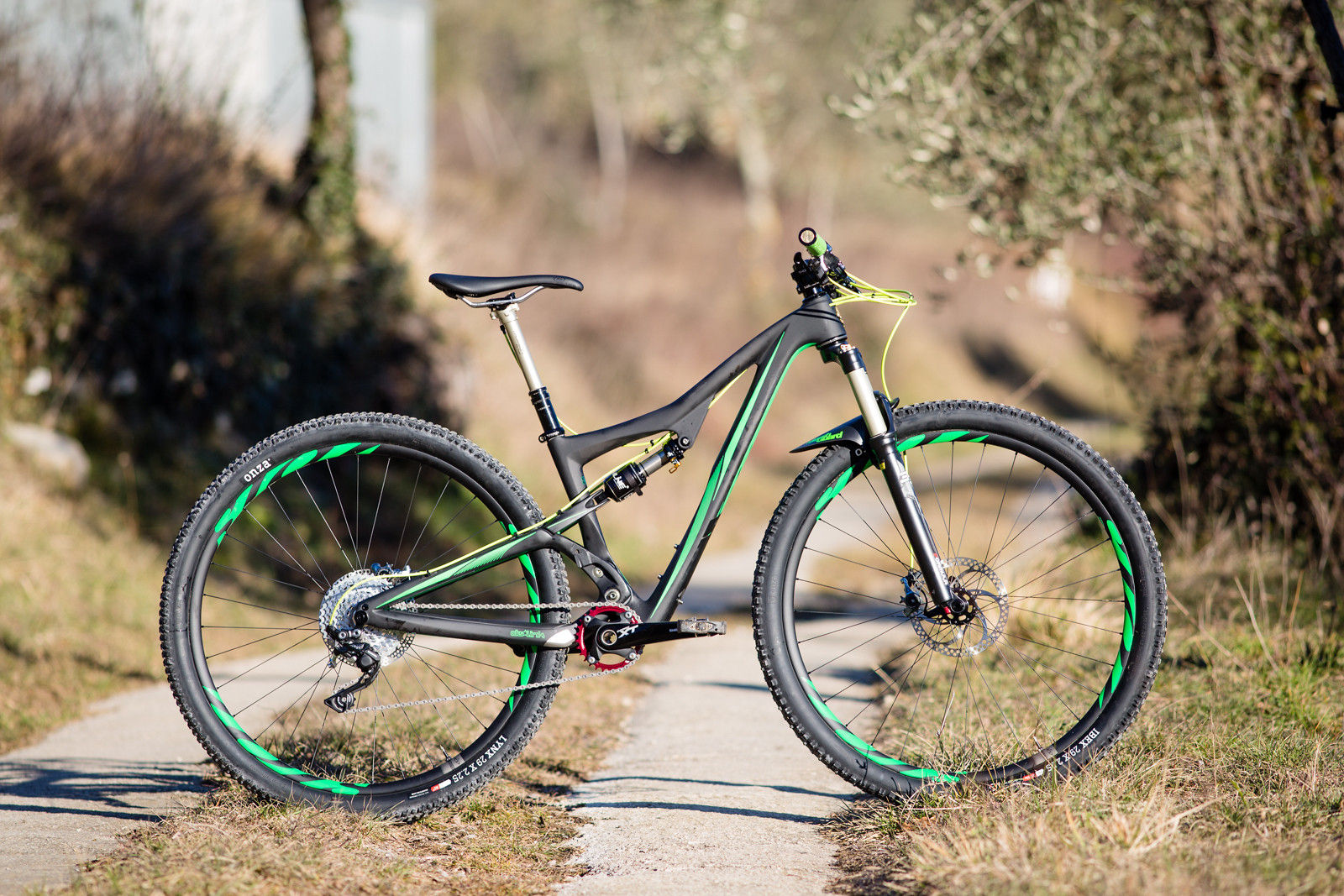 Lean & mean. I wanted a rugged XC bike for winter training in the southern alps.