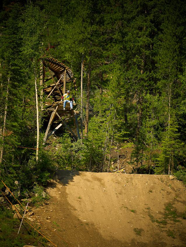 Scoping the corkscrew drop - jmvdigital - Mountain Biking Pictures - Vital MTB