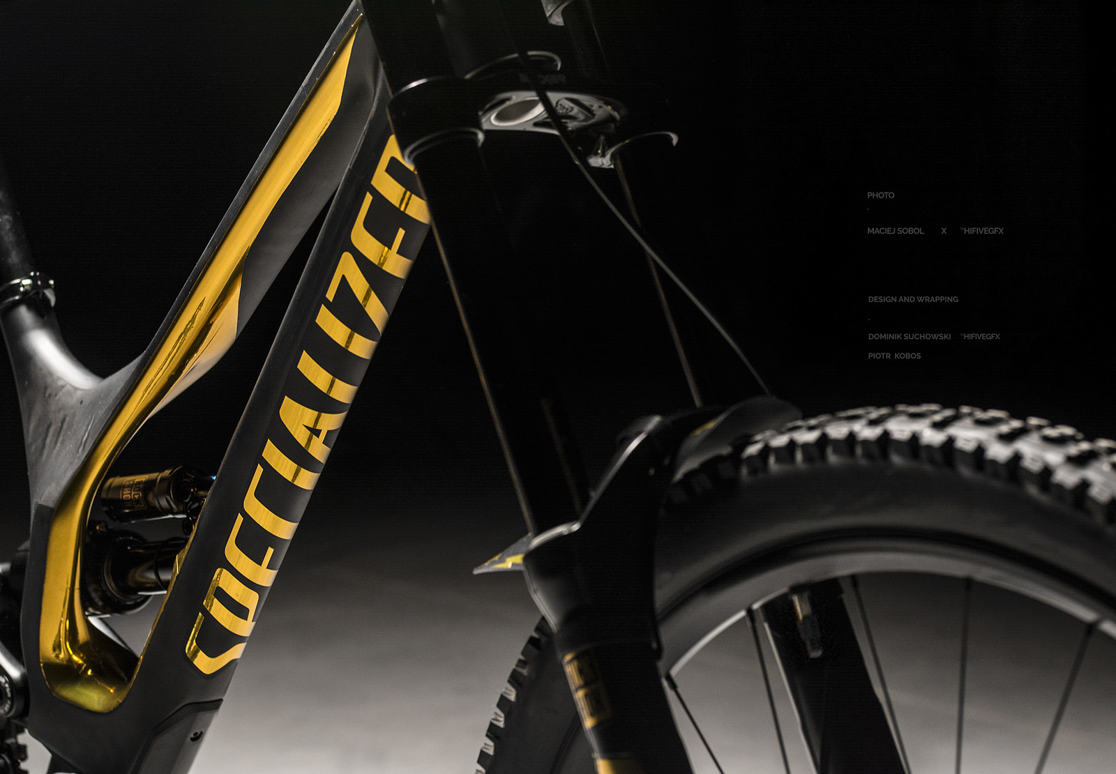 Specialized demo 8 carbon gold diggers custom gold chrome