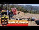 RIDING a WORLD CUP Downhill Track On MY ENDURO Mountain Bike - Vallnord Bikepark
